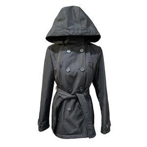 Sebby Double-Breasted Hooded Soft Shell Jacket